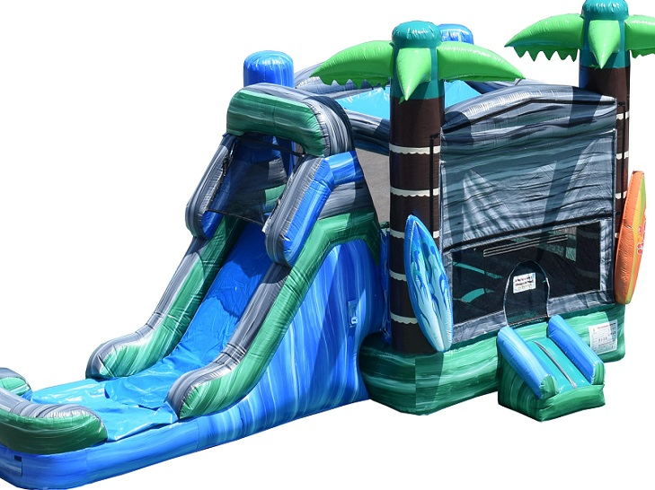 Rent a tropical theme bounce hosue slide | Orland Park IL